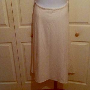 Rena Rowan Full Length Stretch Cream Skirt, 14